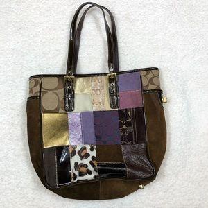 Coach Multiple Patterned Cheetah Shoulder Bag